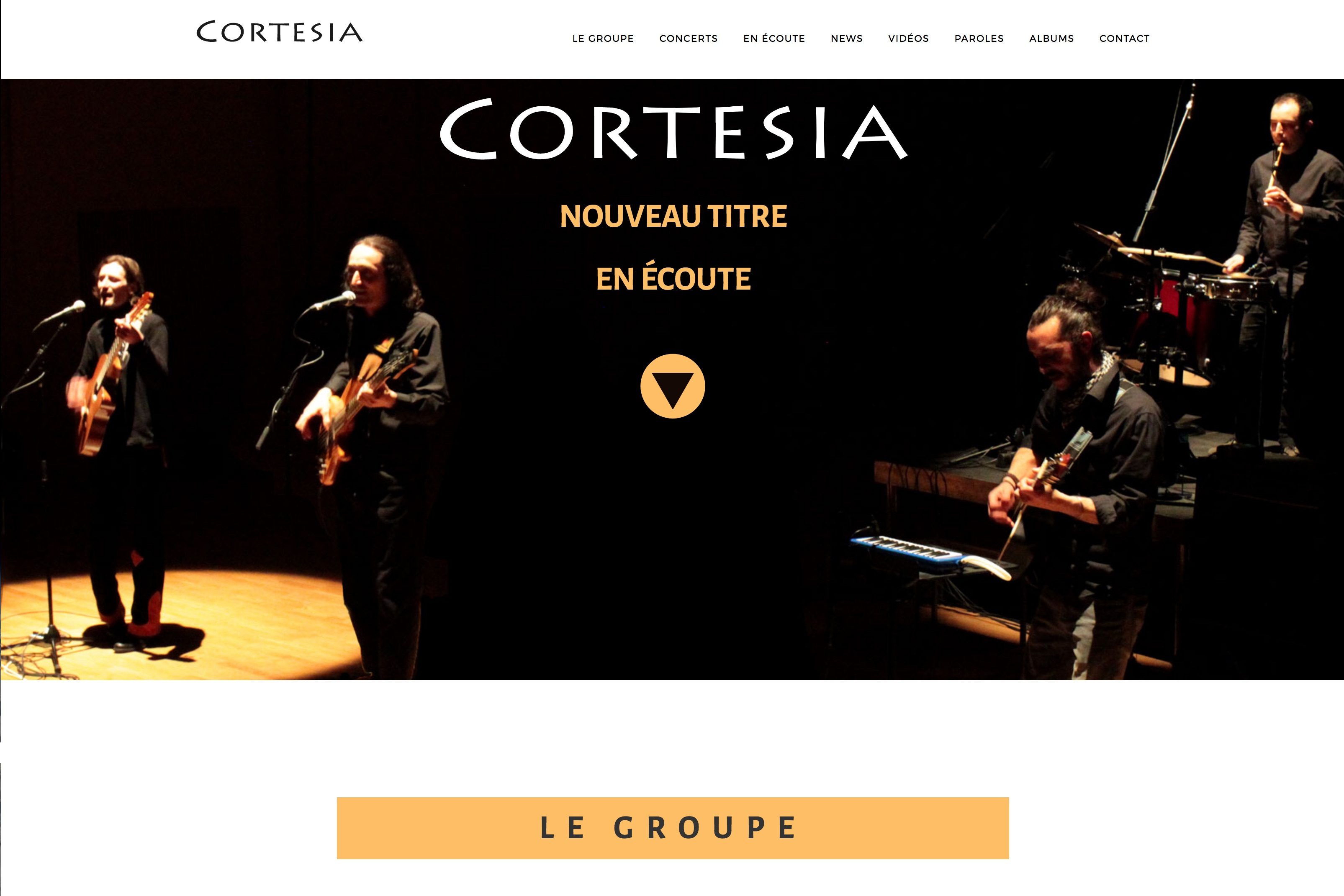 création de site internet : Cortesia.fr par Black Virgin. www.blackvirgin.fr