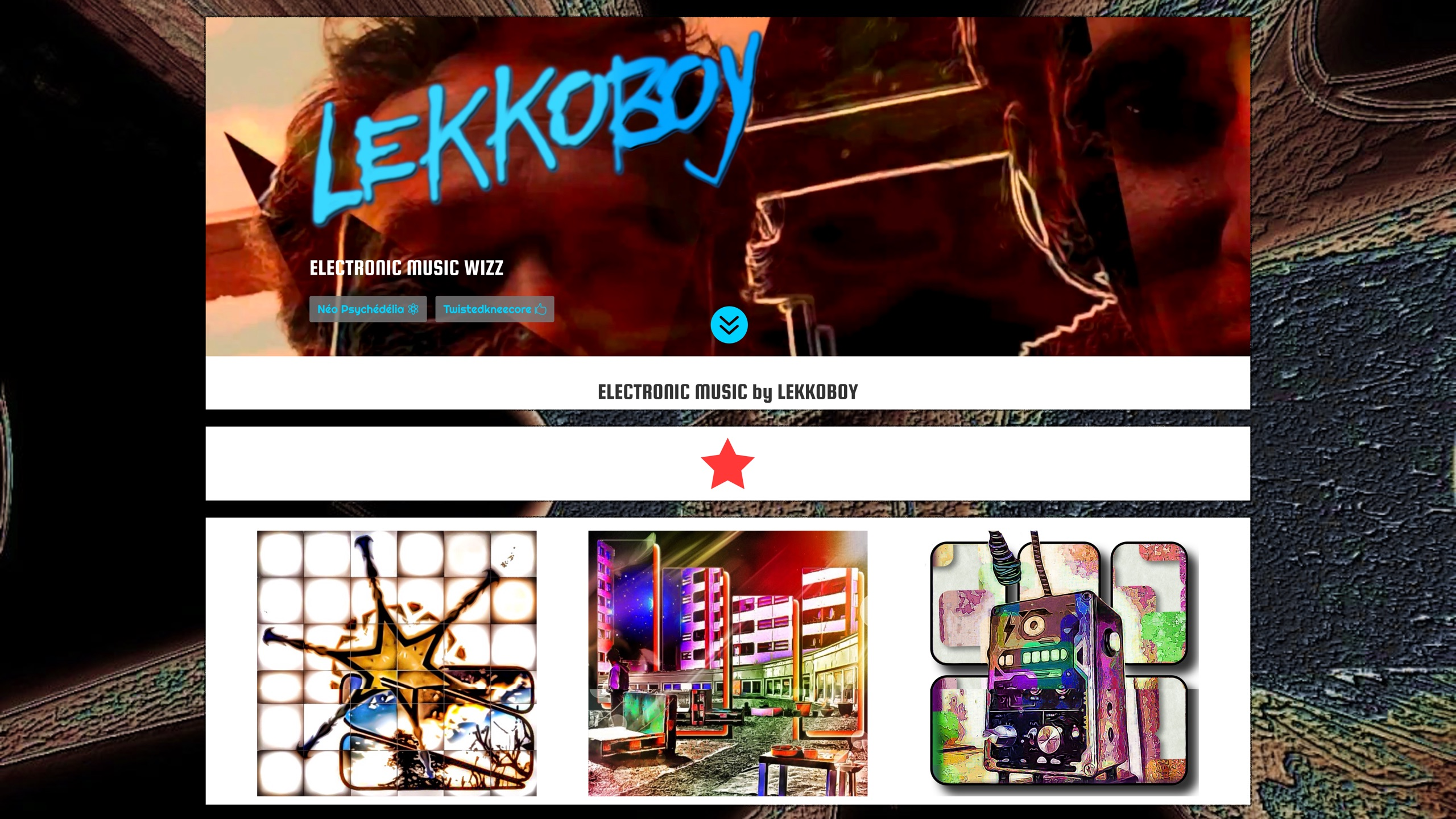 création de site internet : Lekkoboy par Black Virgin. www.blackvirgin.fr